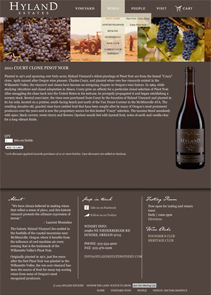 NextGem client: Hyland Estates Winery