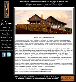 NextGem client: Solena Estate Winery